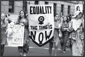 A women's-liberation parade on Fifth Avenue, in New York, in August, 1971.  A women's-liberation parade on Fifth Avenue, in New York, in August, 1971.