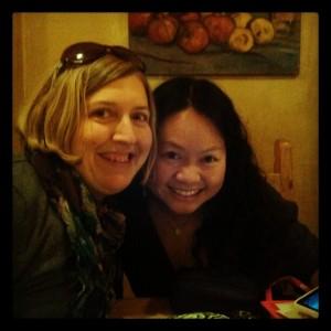 Pamela Neumann, left, with fellow SWS meeting attendee Jenny Korn