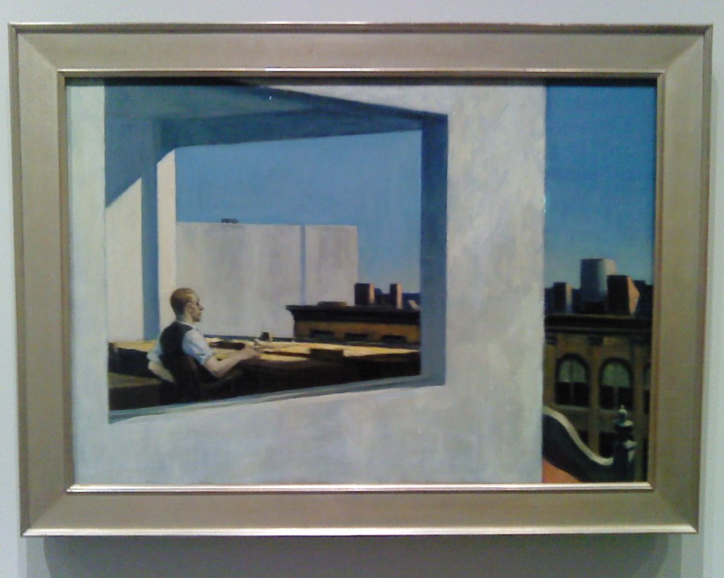 """""""Land is such a good investment opportunity. I can't believe people want to live and work on it."""" Office in a Small City, Edward Hopper"""
