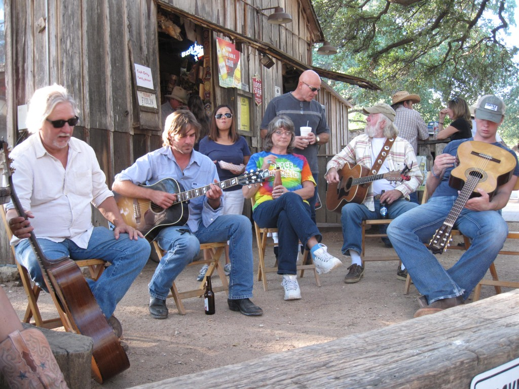 "A ""picking circle"" in Luckenbach, TX"