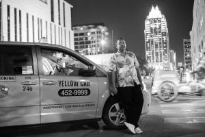 """""""Kumar,"""" cab driver in Austin, Texas."""